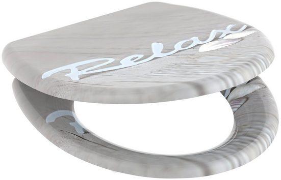 welltime WC-Sitz »Relax«, mit Absenkautomatik, abnehmbar