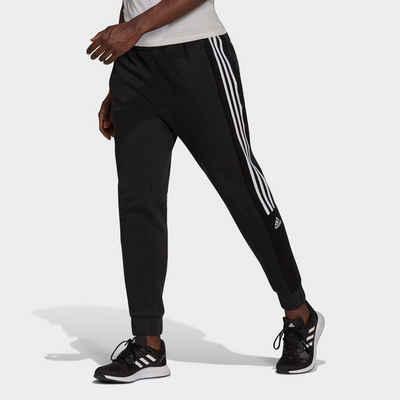 adidas Performance Sporthose »ESSENTIALS COLORBLOCK BLOCK CUT 3-STRIPES REGULAR TAPERED PANTS«