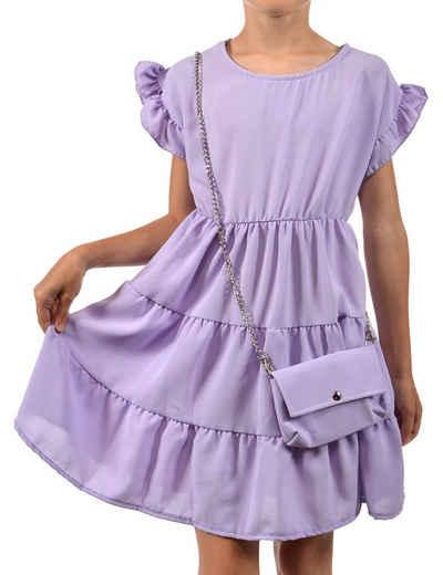 KMISSO Sommerkleid »Mädchen Kleid schwingender Rock und Tasche« (1-tlg) bequem zu tragen