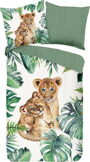 Kinderbettwäsche »Jungle«, good morning, mit Löwenwelpe