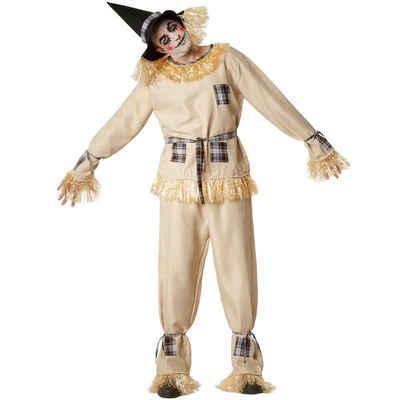 tectake Zauberer-Kostüm »Herrenkostüm Freundliche Vogelscheuche«