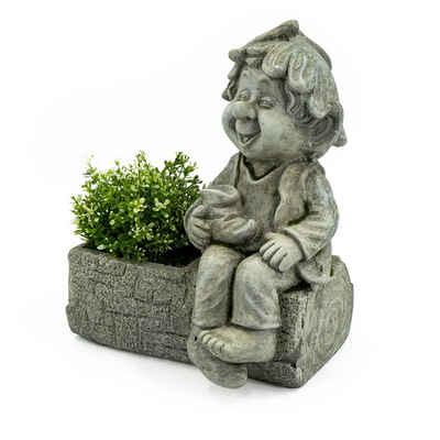 HTI-Living Gartenfigur »Pflanztopf mit Gnom Magnesia«