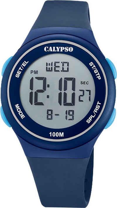 CALYPSO WATCHES Digitaluhr »UK5804/2 Calypso Herren Uhr Digital K5804/2«, (Digitaluhr), Herrenuhr rund, mittel (ca. 39mm), Kunststoffarmband, Fashion-Style