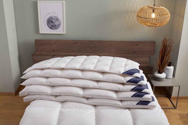 Daunenbettdecke, »Wien«, Excellent, Füllung: 90% Daunen, 10% Federn, Bezug: 100% Baumwolle, hergestellt in Deutschland, allergikerfreundlich