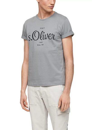 s.Oliver T-Shirt »Rundhals mit Labeldruck«