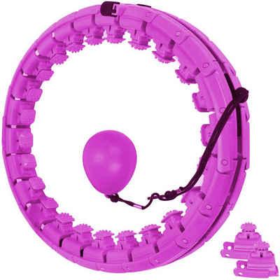 KIKAKO Hula-Hoop-Reifen »Hula Reifen Hoop,Einstellbar Breit Smart Hula Ring Hoops, mit Massagenoppen und 24 Abnehmbare Teile, Weighted Reifen Hoop ideal für Anfänger Kinder Erwachsene Fitness Abnehmen Training, Massage«