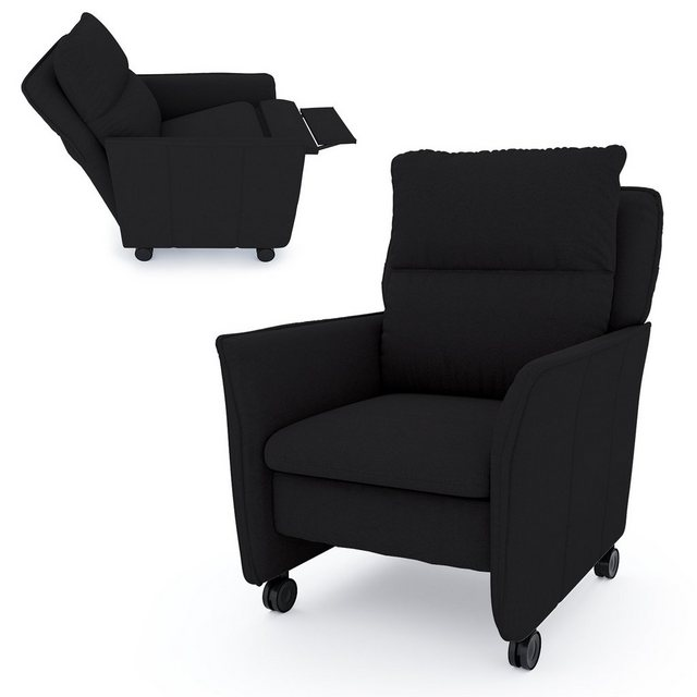 Sessel und Hocker - PLACE TO BE. Relaxsessel »Insideout Wheels«, Relaxsessel Insideout Wheels Schwarz manuell  - Onlineshop OTTO