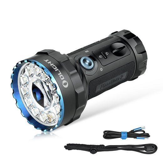 OLIGHT Taschenlampe »Marauder 2 LED Taschenlampen, Wiederaufladbare Große Taschenlampe mit Scheinwerferlicht und Flutlicht, Stark Hell 14000 Lumen 800 Metern Leuchtweite«