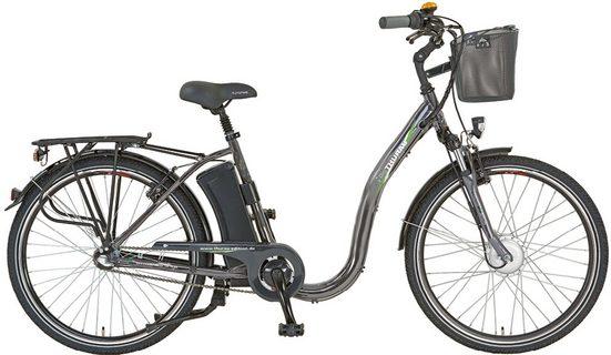 Didi THURAU Edition E-Bike »Alu City Comfort Tiefeinsteiger«, 3 Gang Shimano, Nabenschaltung, Frontmotor 250 W, (mit Schloss)