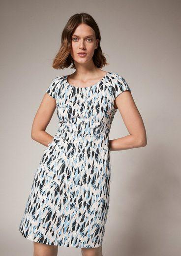 Comma Minikleid »Kleid mit Allover-Muster«