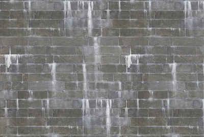 Architects Paper Fototapete »Harbour Wall«, (Set, 4 St), Backstein Mauer in Vintage Optik, Vlies, glatt