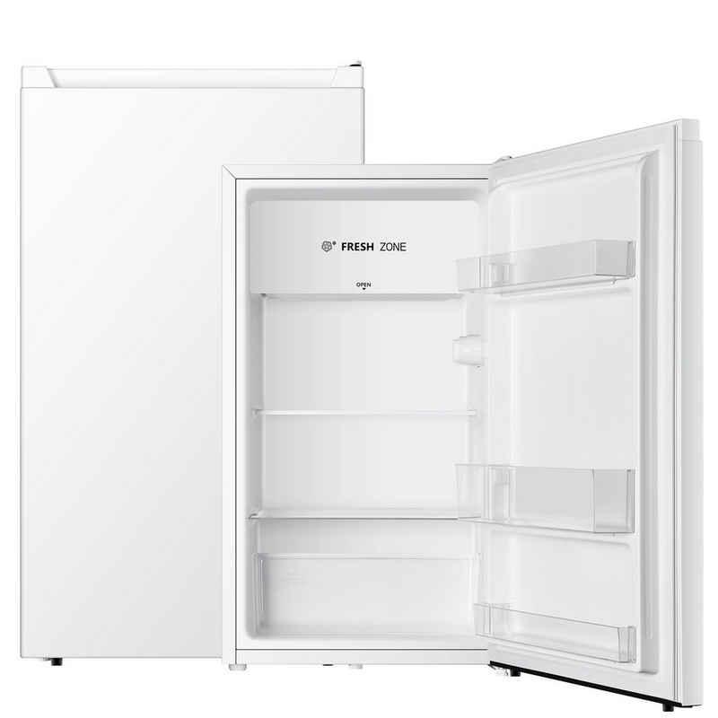 PKM Vollraumkühlschrank KS93, 84.2 cm hoch, 47.5 cm breit, regelbares Thermostat, Gemüseschublade mit bruchsicherer Glasabdeckung, wechselbarer Türanschlag