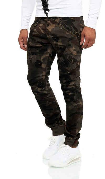 KINGZ Bequeme Jeans mit ausgefallenen Akzenten