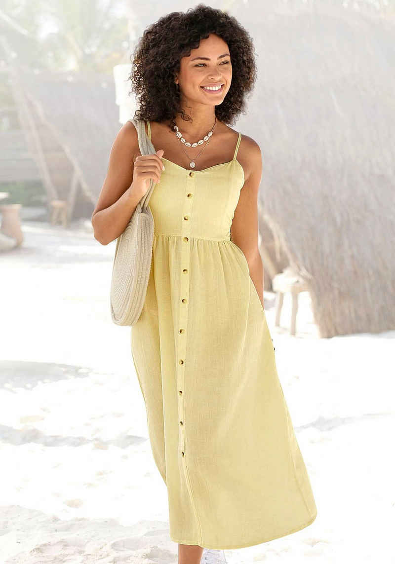 LASCANA Sommerkleid aus Leinenmix
