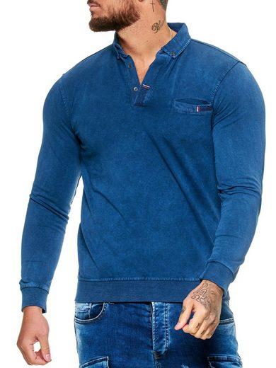 OneRedox Hoodie »H-1484« (Hoodie Kapuzenpullover Sweater, 1-tlg., im modischem Design) Fitness Freizeit Casual