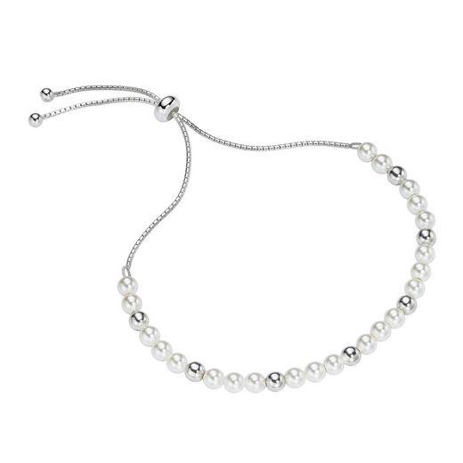 Smart Jewel Armband »Muschelperlen und Silber Kugeln, Silber 925«