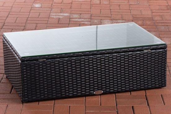 CLP Gartentisch »Tibera«, aus Flachrattan 60x100x32 cm
