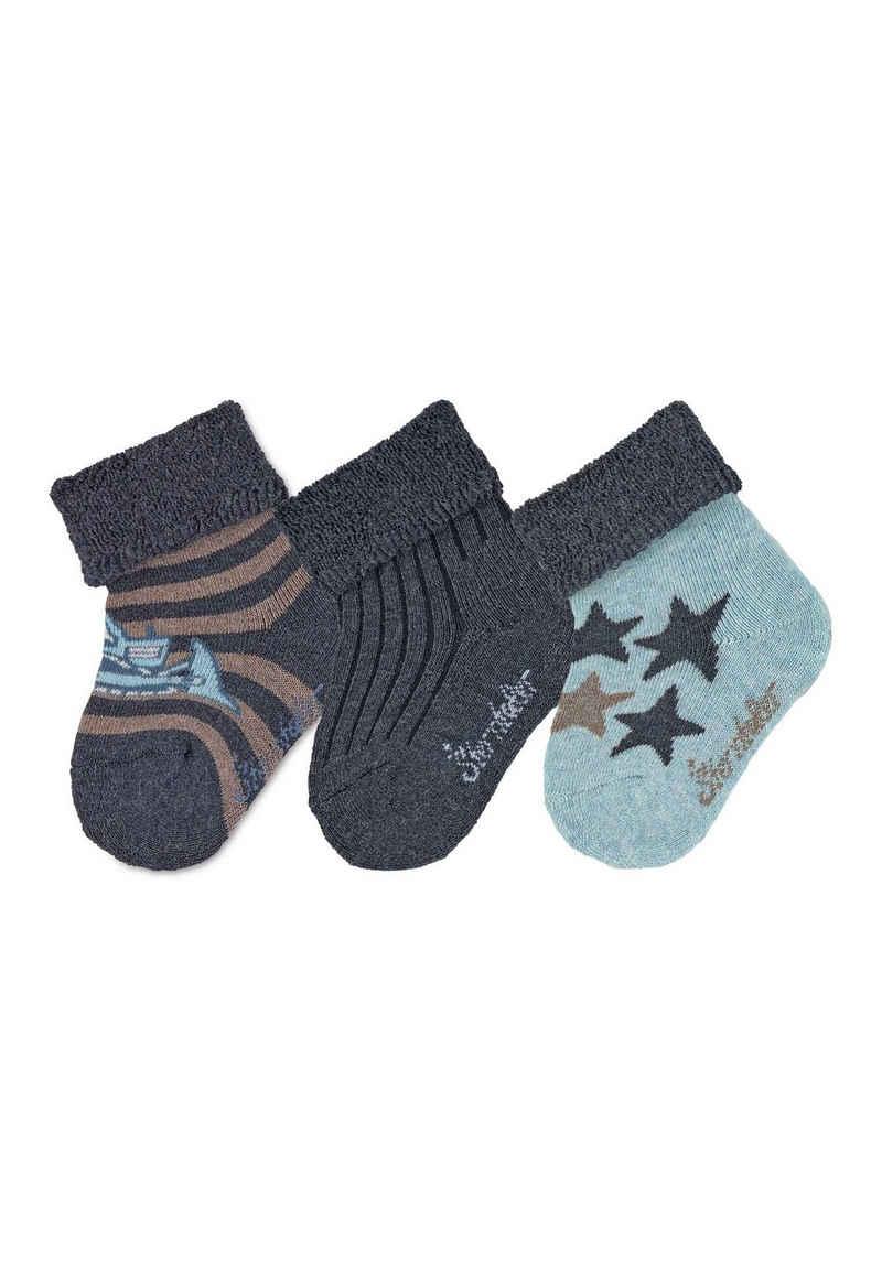 Sterntaler® Socken »Baby-Söckchen 3er-Pack Bagger«