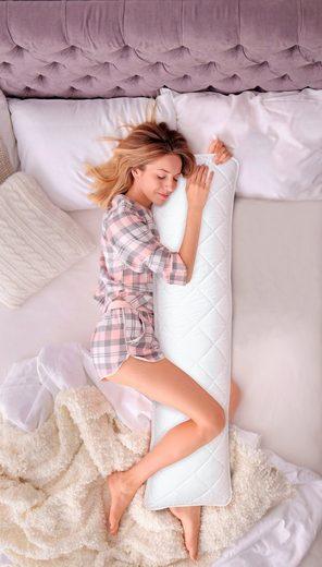 Seitenschläferkissen »Memory+«, DELAVITA, sorgt für eine angenehme und rückenfreundliche Schlafposition.