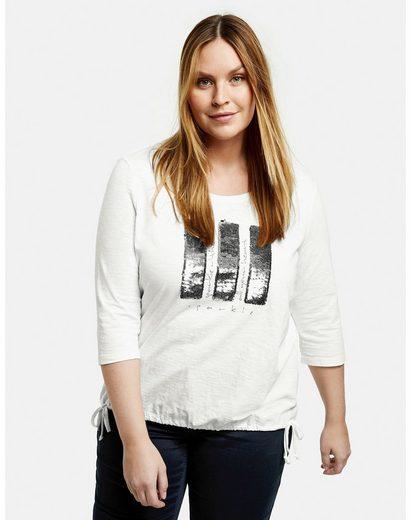 Samoon 3/4-Arm-Shirt »Shirt mit Pailletten aus GOTS zertifizierter Bio-Baumwolle« (1-tlg)