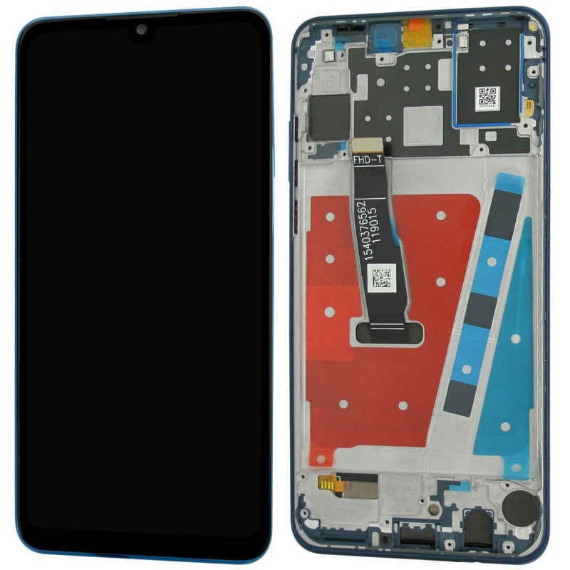 Huawei P30 Lite New Edition Komplettes LCD Display Reparatur Set Ersatzteil Bildschirm Einheit mit Rahmen Blau Handy