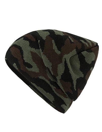 Myrtle Beach Beanie »Camouflage Beanie Mütze« Klassische Strickmütze mit modischem Camouflage-Design