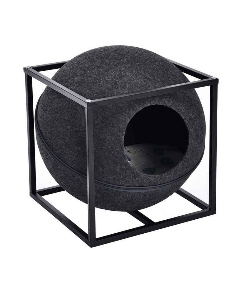 Dehner Tierbett »Katzenhöhle Funny Ball, 47 x 38 x 38 cm«