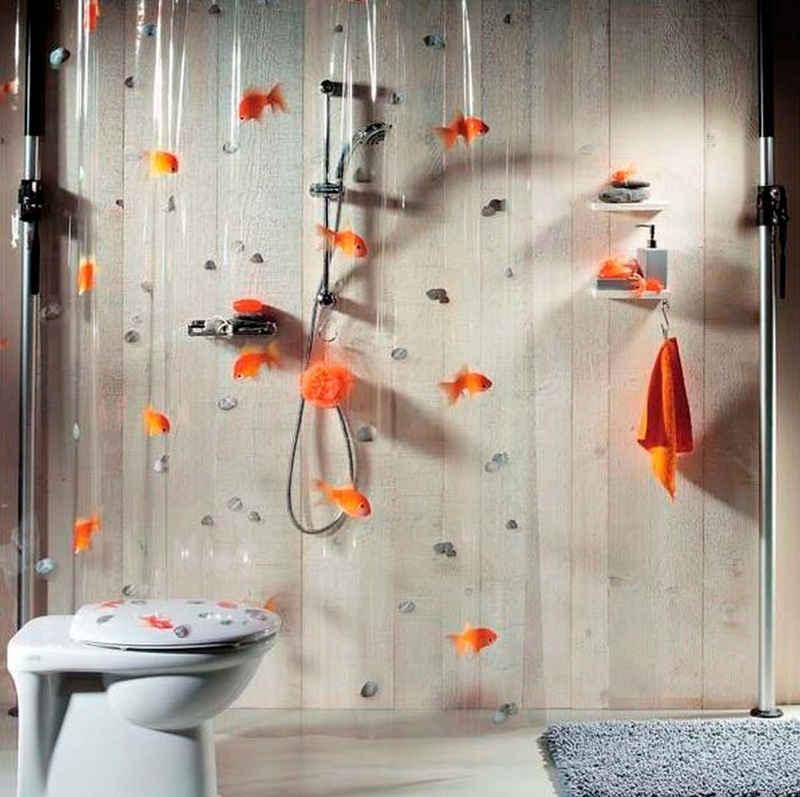 spirella Duschvorhang »Goldfish« Breite 180 cm, Höhe 200 cm