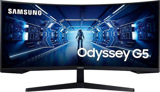 "Samsung Odyssey G5 C34G55TWWR Gaming-Monitor (86 cm/34 "", 3440 x 1440 Pixel, UWQHD, 1 ms Reaktionszeit, 165 Hz, VA LCD)"