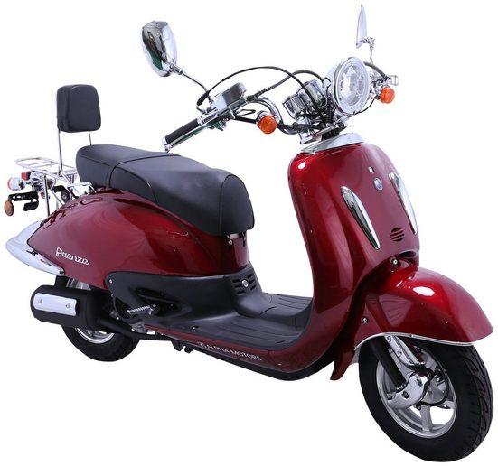 Alpha Motors Motorroller »Retro Firenze«, 50 ccm, 45 km/h, Euro 4, 50 ccm, 45 km/h, mattschwarz/braun
