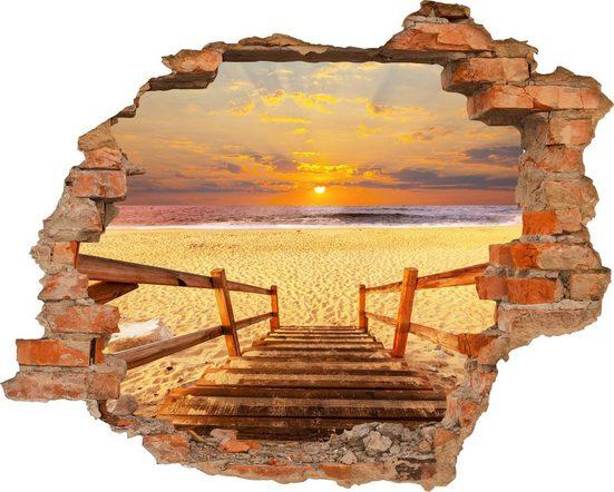 Conni Oberkircher´s Wandsticker »Stairs on the beach«, selbstklebend