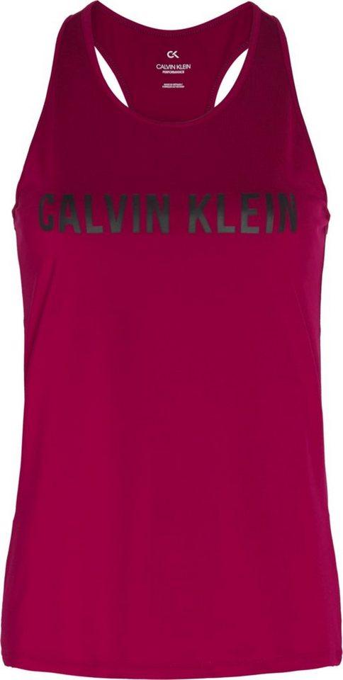 calvin klein performance -  Sporttop »TANK TOPS« mit Racer-Rücken & Calvin Klein Logo-Schriftzug Ton in Ton