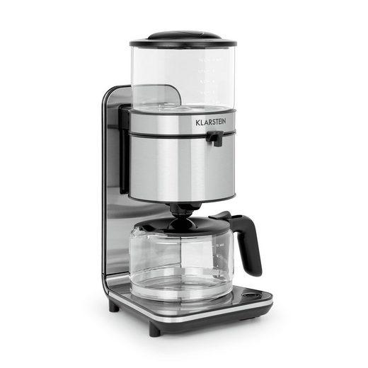Klarstein Filterkaffeemaschine Soulmate Kaffeemaschine Filter-Kaffeemaschine 1800W Glas Edelstahl, 0l Kaffeekanne