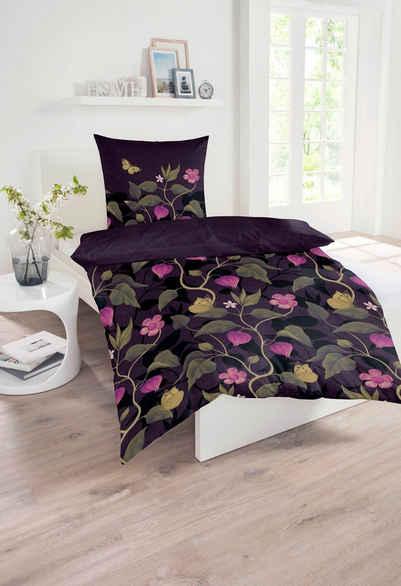 Wendebettwäsche »Rosa«, Schiesser, mit tollen Blumen