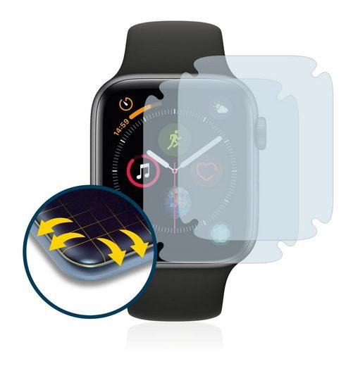 BROTECT Schutzfolie »für Apple Watch Series 4 (44 mm)«, (2 Stück), Full-Cover 3D Curved matt entspiegelt