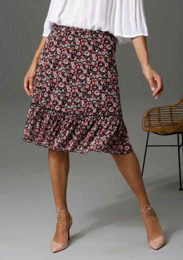 Aniston CASUAL Sommerrock mit Blüten bedruckt - NEUE KOLLEKTION