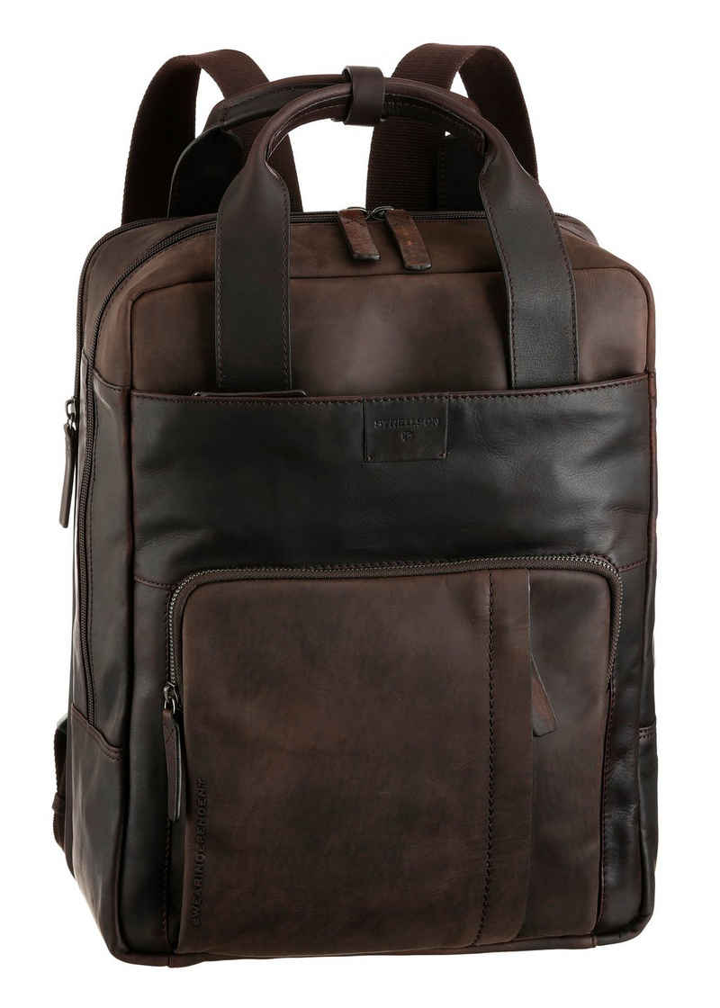 Strellson Cityrucksack »brick lane backpack lvz«, aus hochwertigem Leder