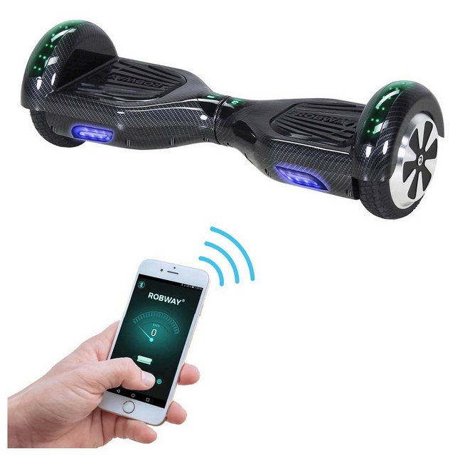 ROBWAY Hoverboard W1 6 5 Zoll mit APP-Funktion