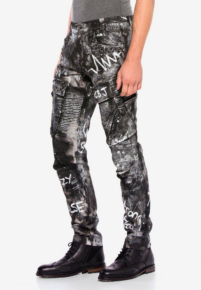 cipo & baxx -  Bequeme Jeans »CD572« mit stylischem Glitzereffekt