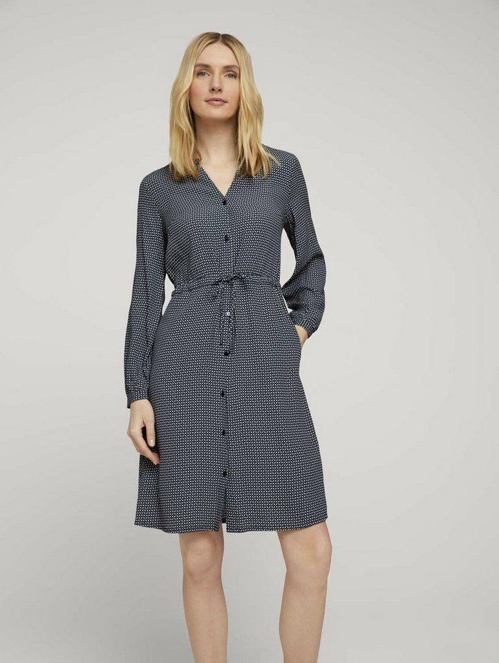 tom tailor -  Jeanskleid »Gemustertes Blusenkleid«
