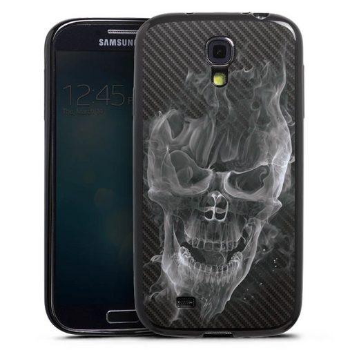 DeinDesign Handyhülle »Smoke Skull Carbon« Samsung Galaxy S4, Hülle Totenkopf Schädel Carbon