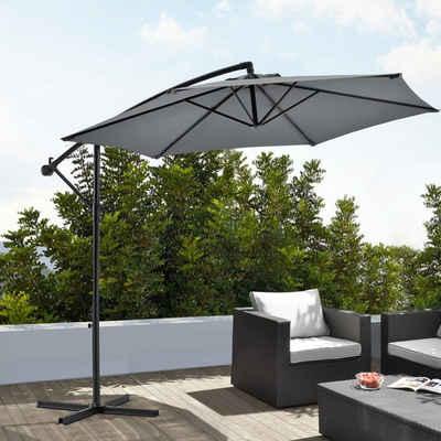 Sonnenschutz, casa.pro, blickdicht, Ampelschirm Sonnenschirm mit Schirmständer 270cm