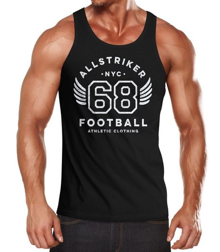 Neverless Tanktop »Herren Tank-Top College Design Schriftzug NYC 68 Football Athletic Clothing Vintage Muskelshirt Muscle Shirt Neverless®« mit Print