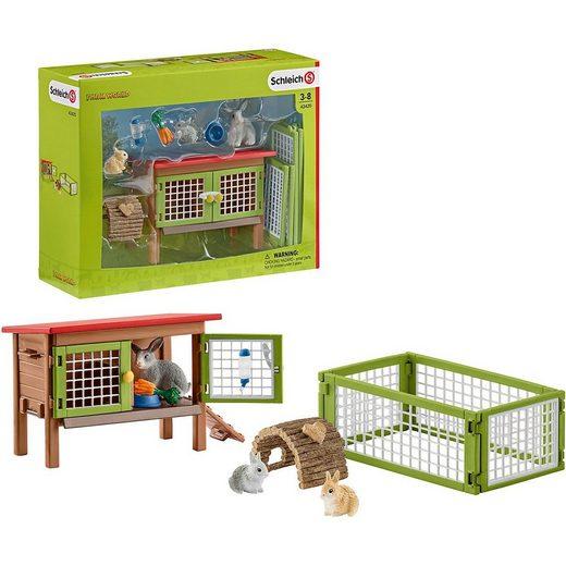 Schleich® Spielfigur »Schleich 42420 Farm World: Kaninchenstall«