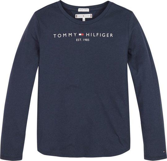 TOMMY HILFIGER Langarmshirt »ESSENTIAL TEE« Basicpassform
