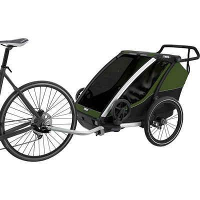 Thule Fahrradkindersitz »Fahrradanhänger Chariot Cab 2, grau/grün«