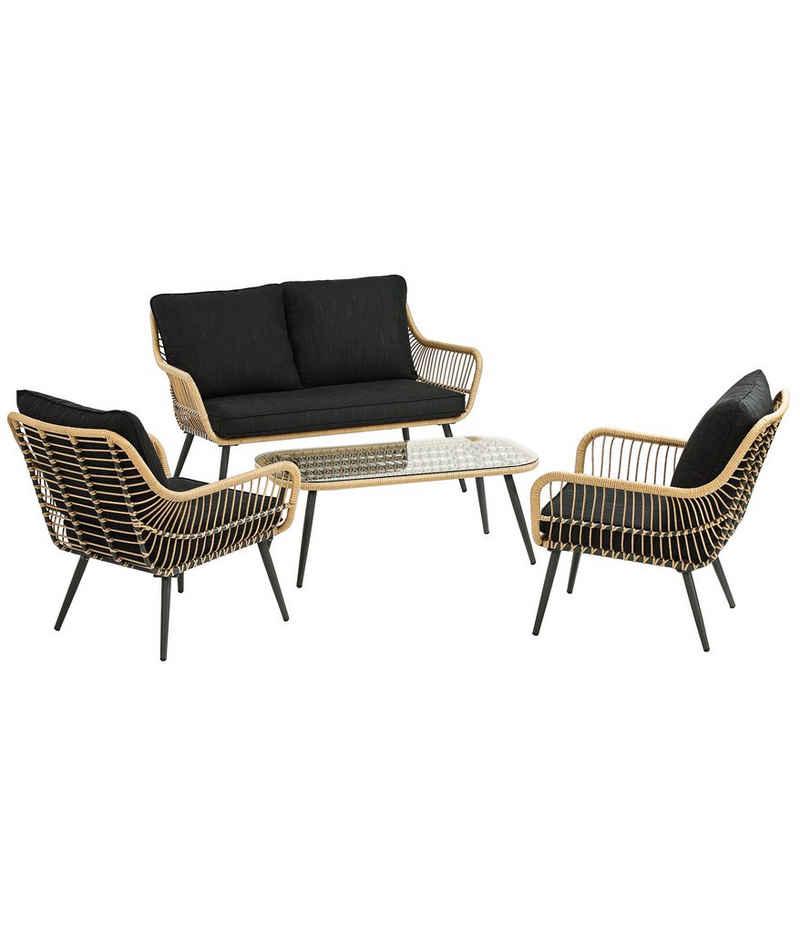 Dehner Gartenmöbelset »Lounge Venezia, 4-teilig, inkl. Polster«