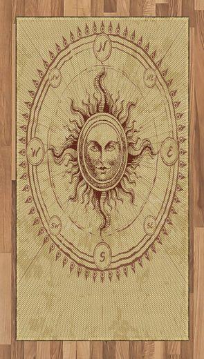 Teppich »Flachgewebe Deko-Teppiche für das Wohn-,Schlaf-, und Essenszimmer«, Abakuhaus, rechteckig, altertümlich Antique Roman Sun-Stein
