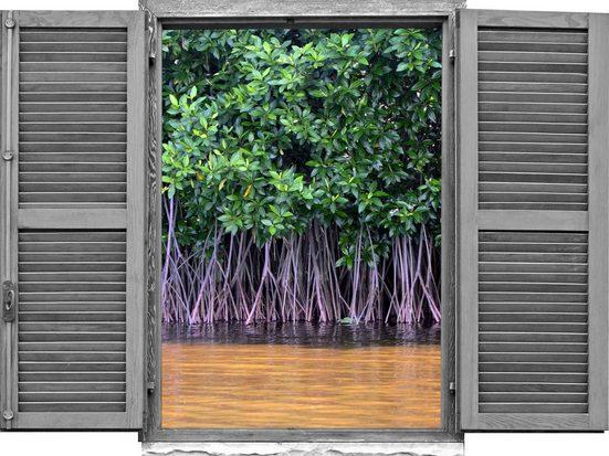 queence Wandtattoo »Bäume im See« (1 Stück)