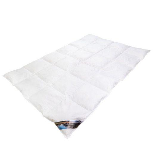 Daunenbettdecke, »Masuren«, Traumschloss, Füllung: 90% neue weiße masurische Daunen und 10% Federn, Bezug: 100% supergekämmte Baumwolle, 4x6 Karos in Kassetten abgesteppt